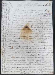 Anna Maria Cardosa, 1765. Letter, National Library of Rio de Janeiro (BNJ), Cota: I 30, 21, 25. MAP Catalog Code: [0140]. Image source: BNJ / Photo by M.A.P. team