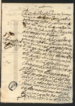 Domingas da Rosa de Morais, 1689. Private letter, ANTT/PS, TSO, IL, 1462 / Projeto P.S. PSCR0270. MAP Catalog Code: [0143]. Image source: ANTT / P.S.: http://ps.clul.ul.pt/pt/index.php?action=file&cid=xmlfiles/Revistas/ModernizadasTeitok/anotadas_PT/PSCR0270.xml