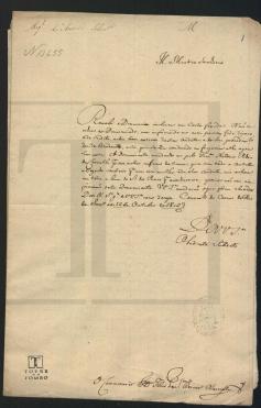 Francisca Antonieta, 1802. Letter, Portuguese National Archive – Torre do Tombo (ANTT), PT/TT/TSO-IL/028/CX1577/13655. MAP Catalog Code: [0144]. Image source: ANTT / https://digitarq.arquivos.pt/details?id=2313868