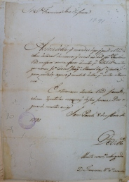 Francisca Maria Xavier de Castro, 1791. Plea ('Requerimento'), São Paulo State Archive (APESP), 1.1.0697/23. MAP Catalog Code: [0145]. Image Source: APESP / Photo by M.A.P. team